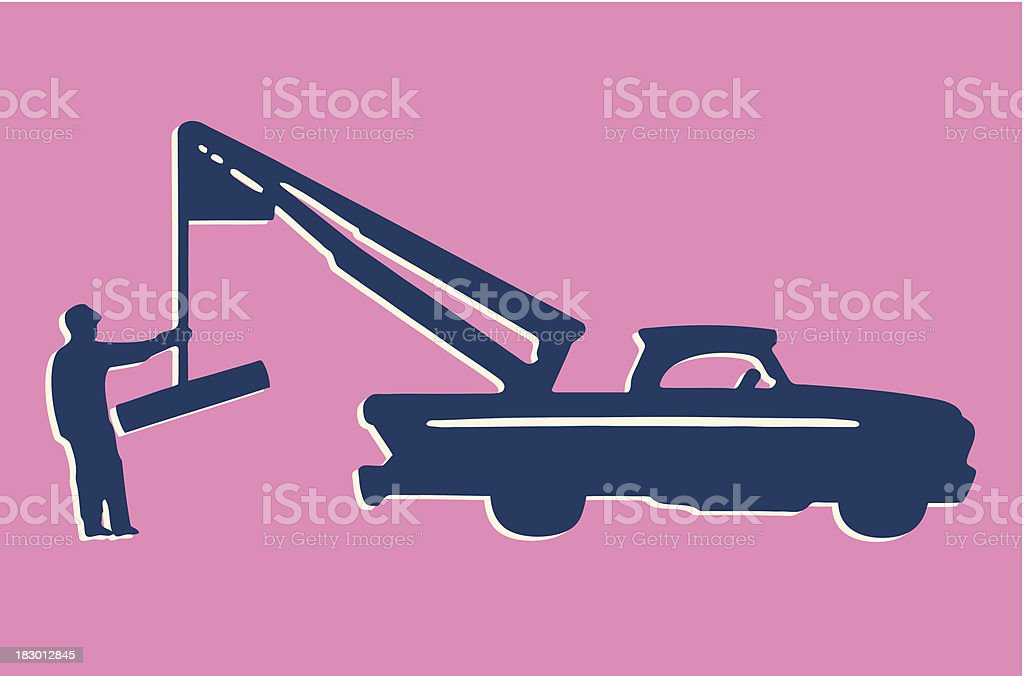 Tow Truck royalty-free stock vector art