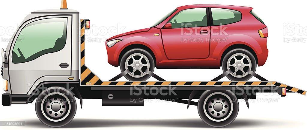 tow truck vector art illustration