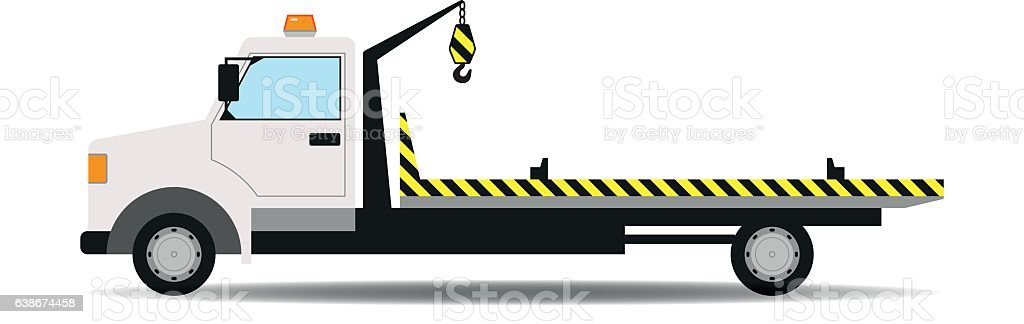Tow truck vector illustration vector art illustration