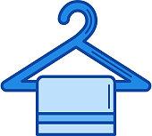 Towel hanger line icon