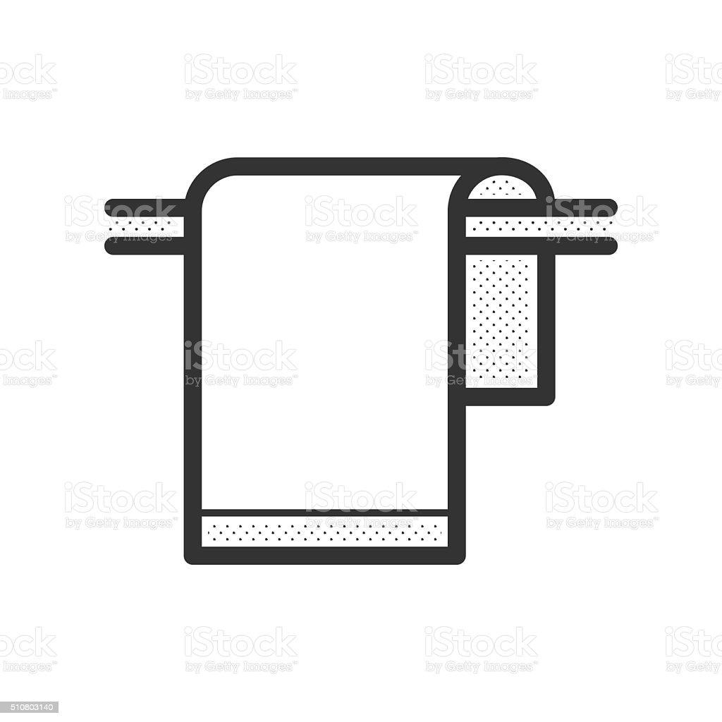 towel icon design vector art illustration