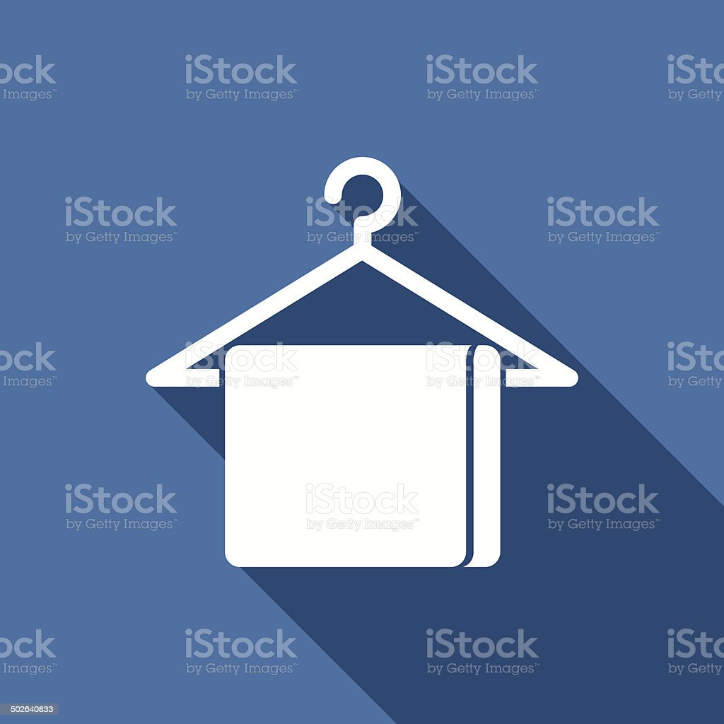 towel icon vector art illustration