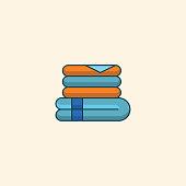 Towel icons set