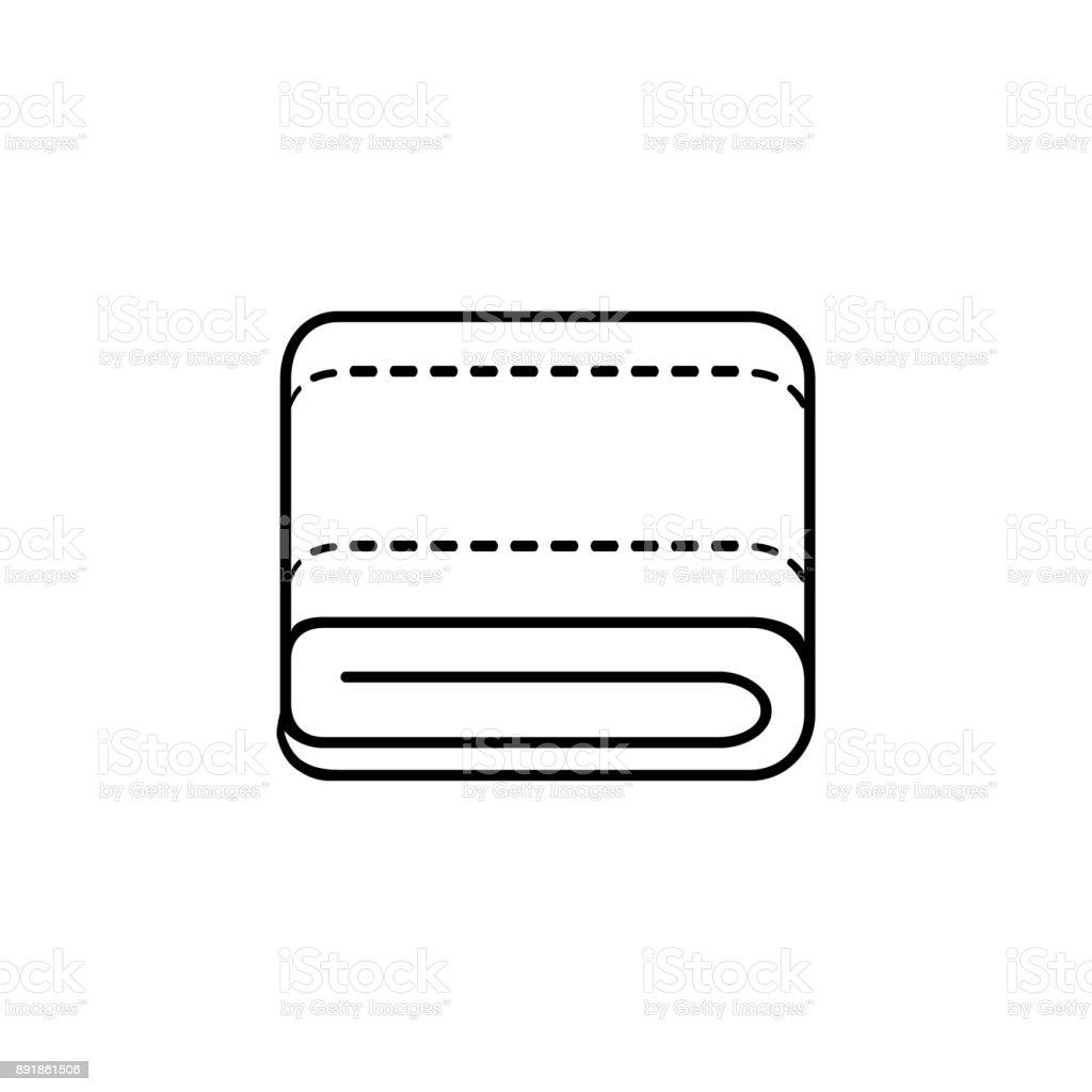 towel line icon vector art illustration