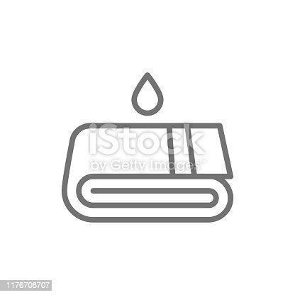 istock Towels, laundry, washing line icon. Isolated on white background 1176708707