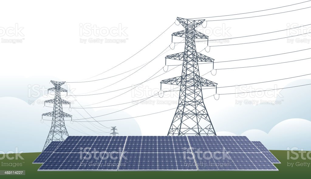 Tower and solar panel royalty-free tower and solar panel stock vector art & more images of alternative energy