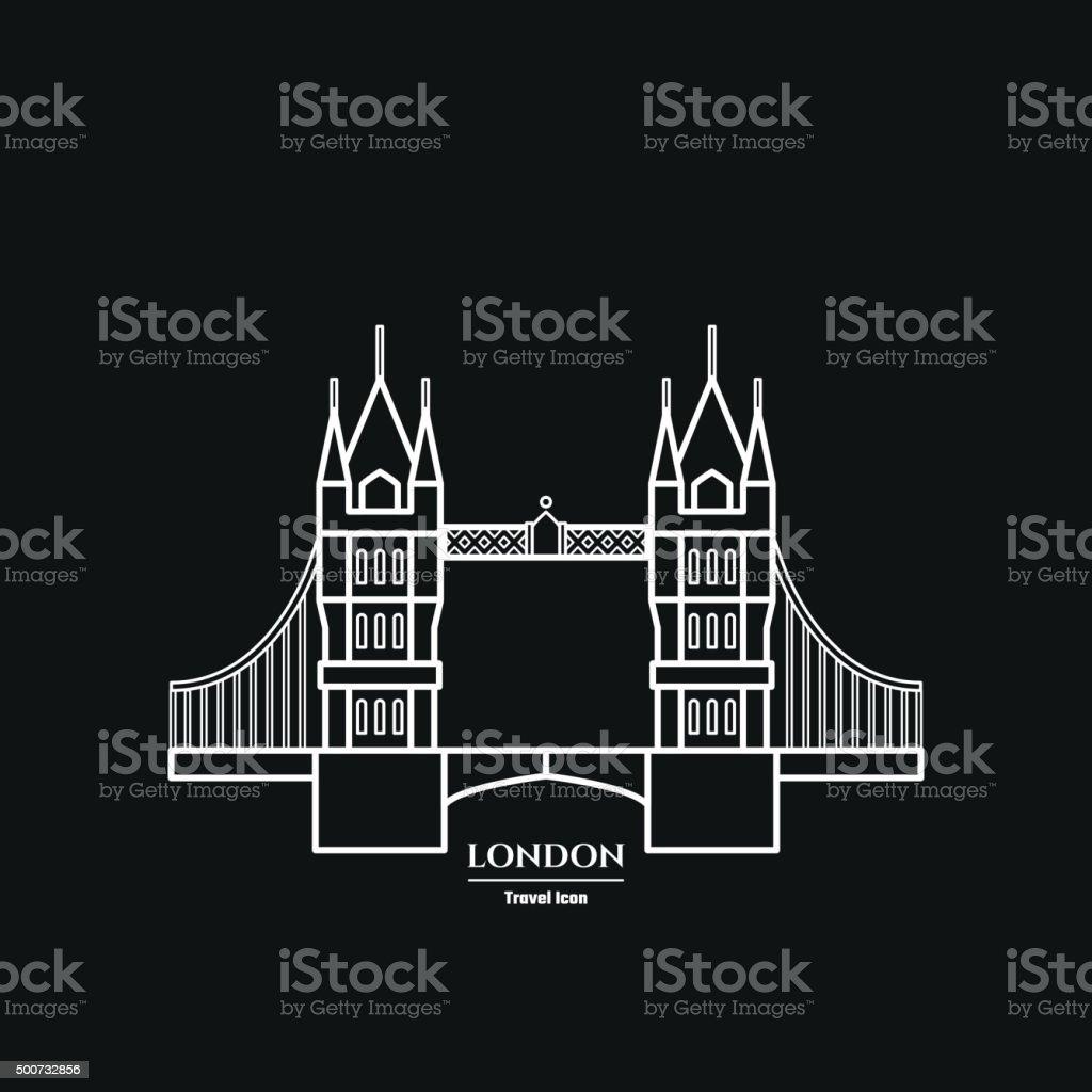 Tower bridge Icon vector art illustration