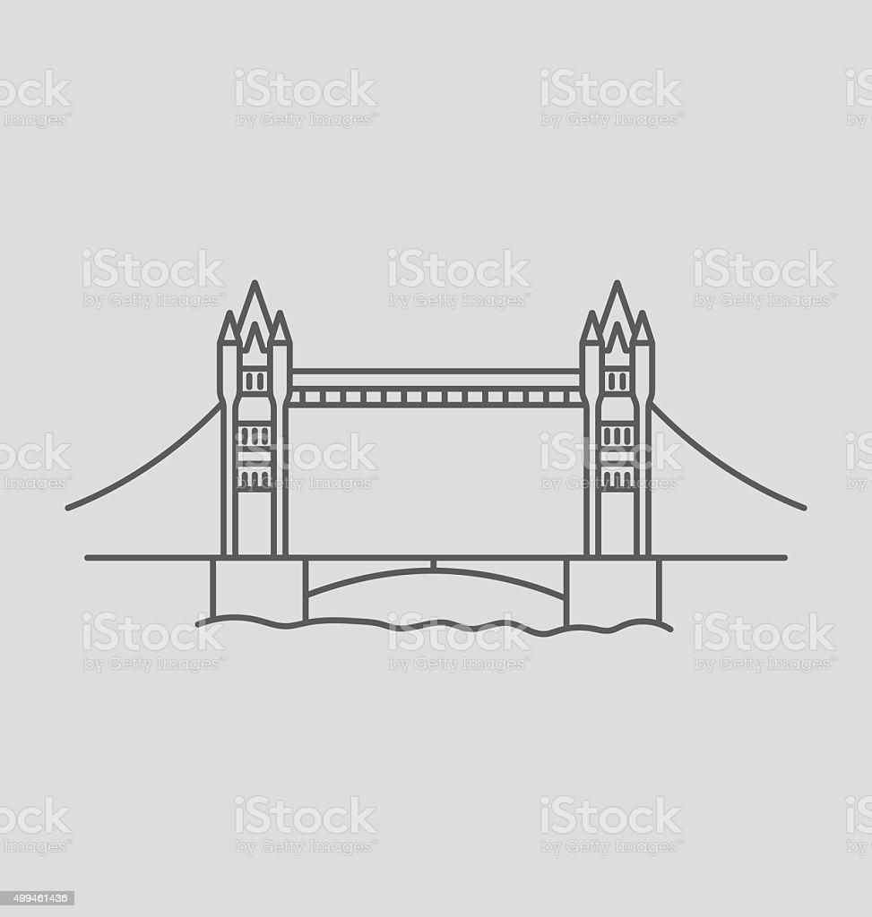Tower Bridge line Illustration vector art illustration