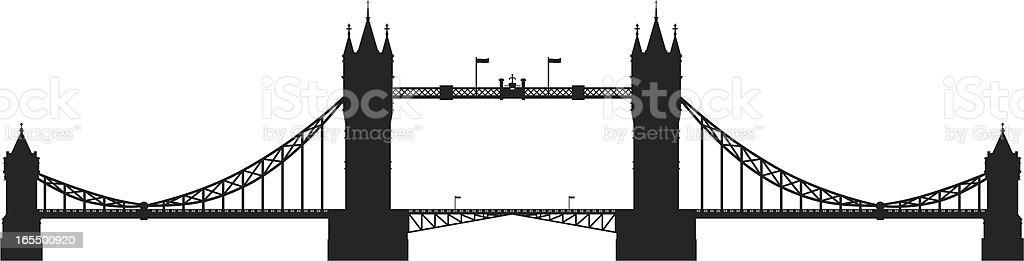 Tower Bridge, London vector art illustration