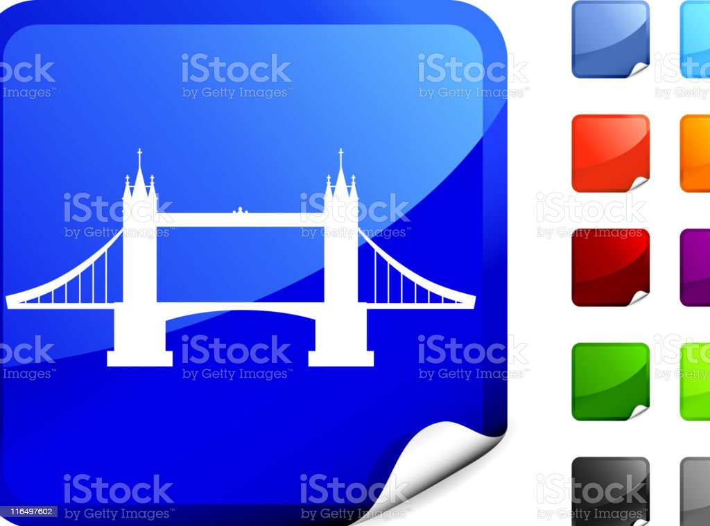 tower bridge Sticker vector art illustration