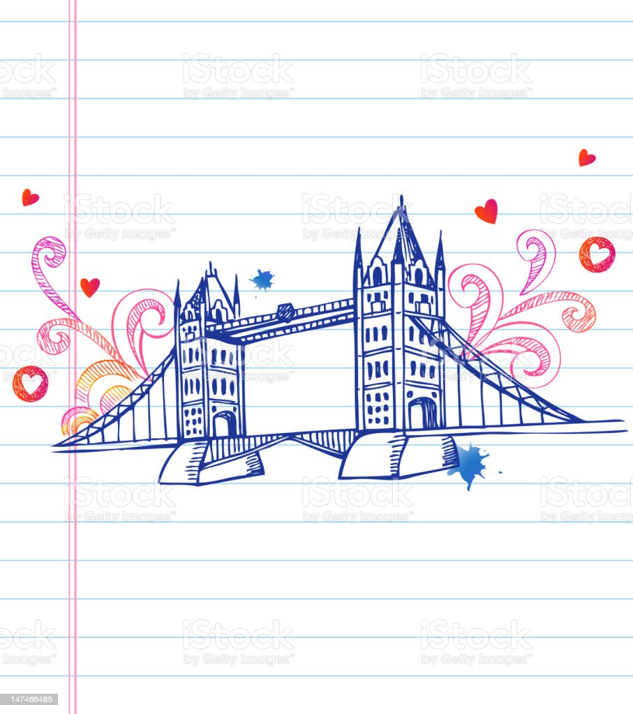 Tower bridge royalty-free tower bridge stock vector art & more images of architecture
