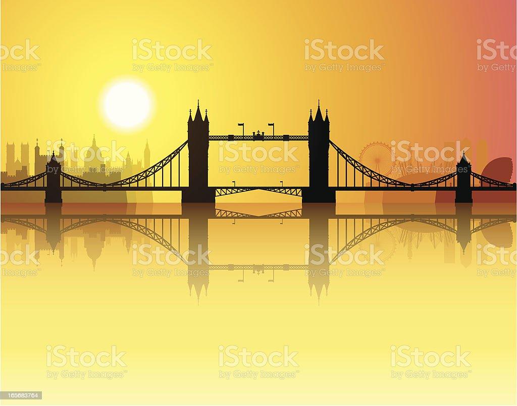 Tower Bridge vector art illustration
