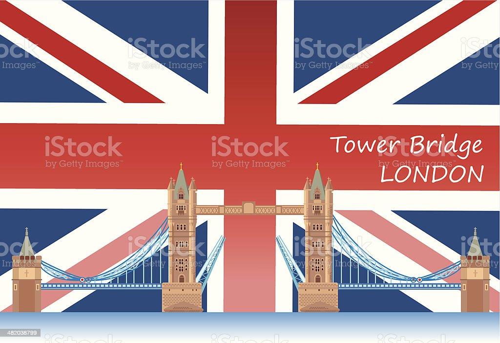 Tower Bridge royalty-free stock vector art