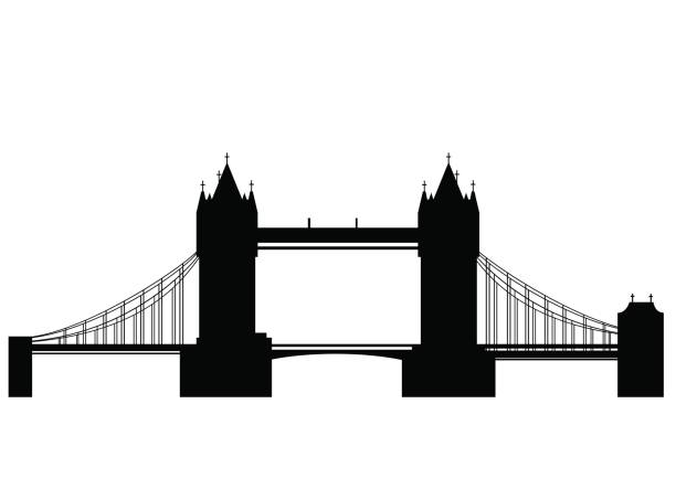 Tower bridge - vector vector art illustration