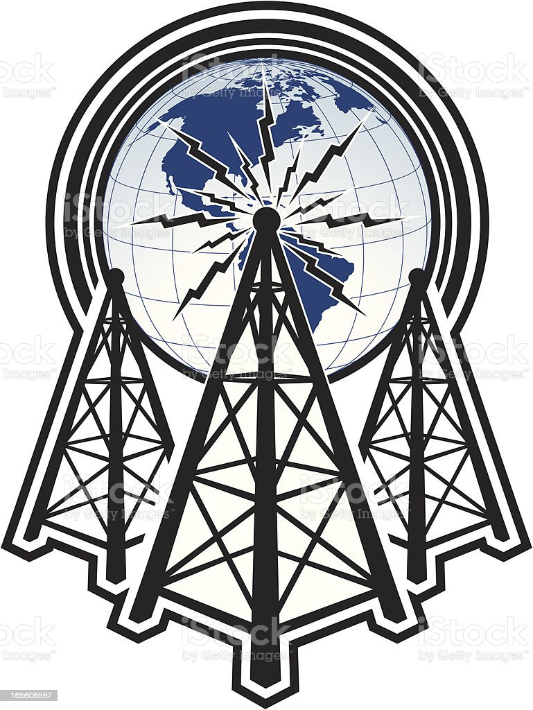 tower communication royalty-free stock vector art