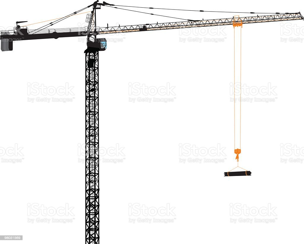 tower crane royalty-free stock vector art