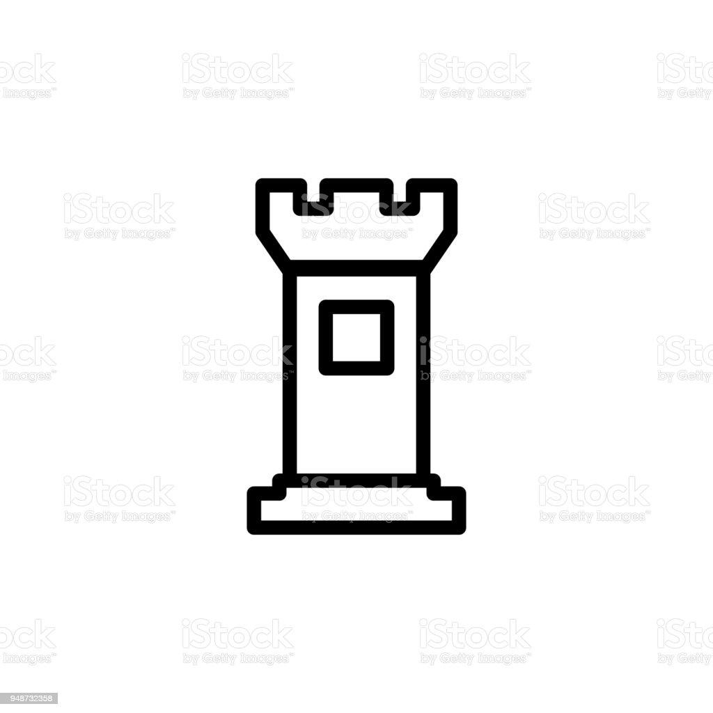 Turmsymbol Element Der Minimalistischen Icons Für Mobile Konzept Und ...