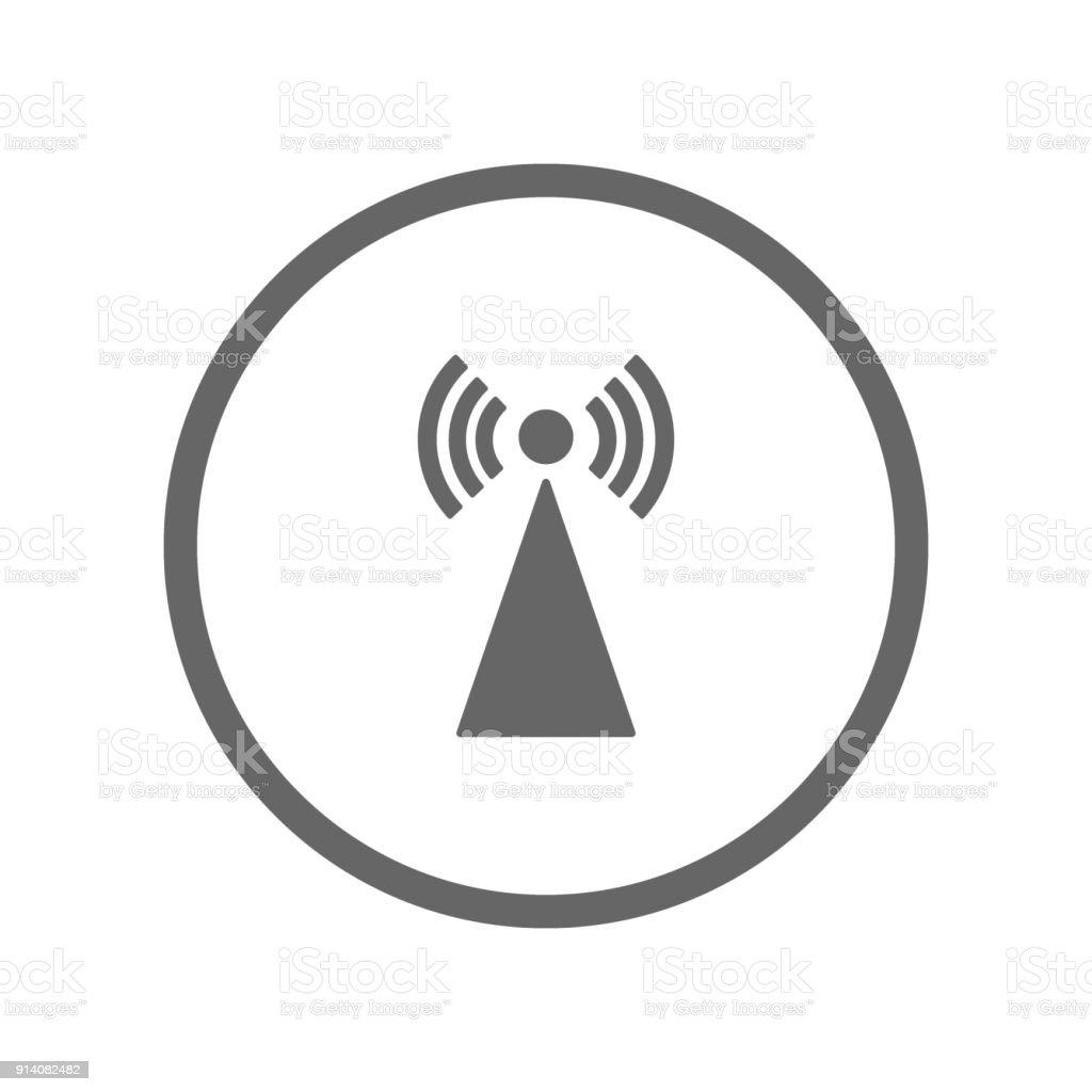 Tvturmsymbol Im Kreis Vektor Stock Vektor Art und mehr Bilder von ...