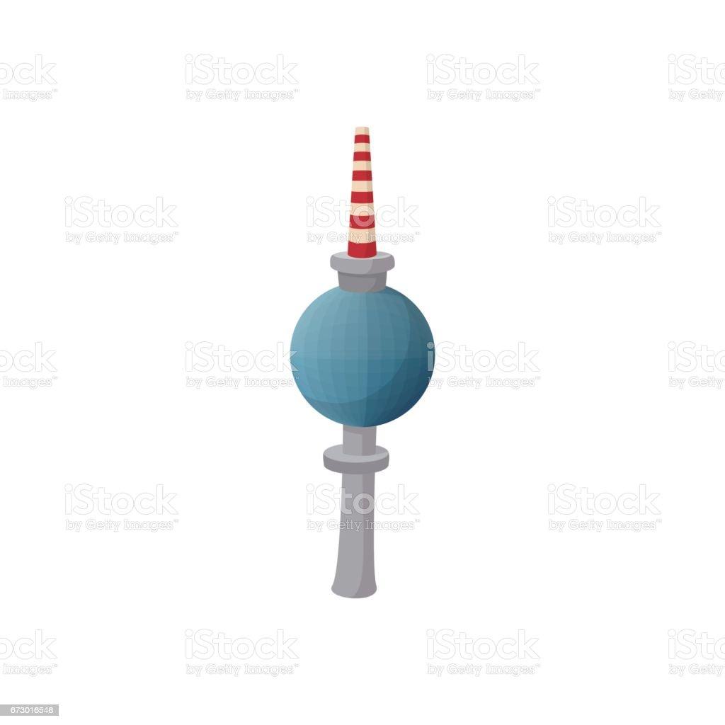 Fernsehturm in Berlin-Symbol, Cartoon-Stil – Vektorgrafik