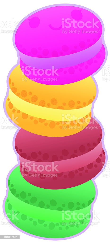 Tower of Macarions royalty-free stock vector art