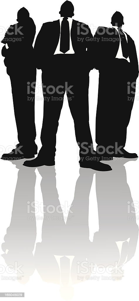 Towering Businessmen in Black Series vector art illustration