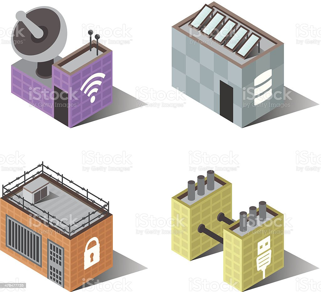 Town Buildings | Computers royalty-free stock vector art