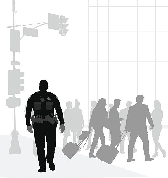 town cop patrol - 出張点のイラスト素材/クリップアート素材/マンガ素材/アイコン素材