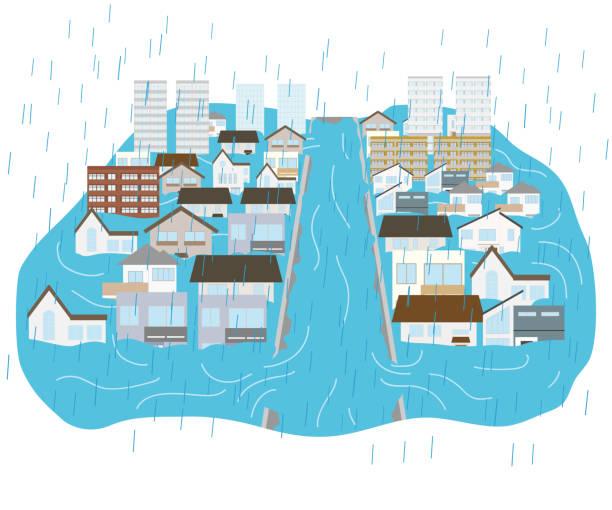 大雨 イラスト素材 Istock