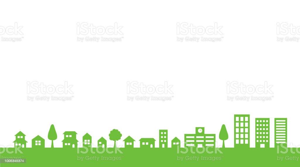 市街図 (背景素材) ベクターアートイラスト