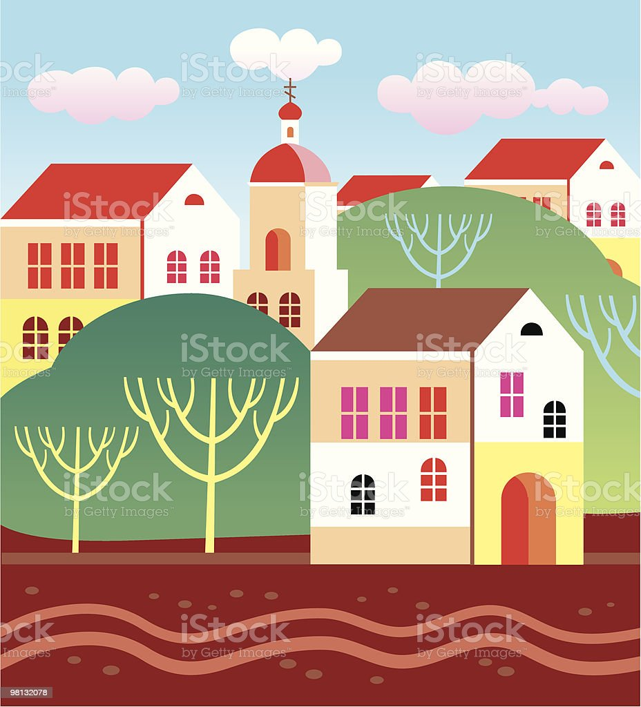 Town landscape royalty-free town landscape stock vector art & more images of abstract