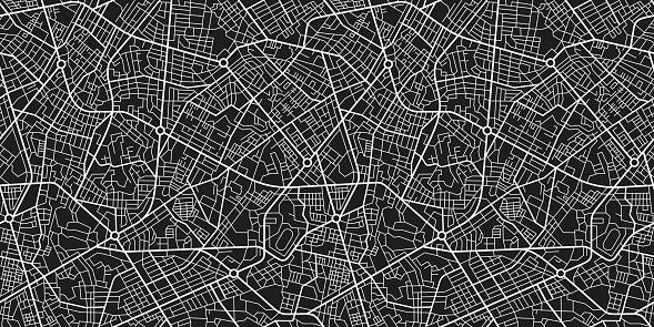 Town map seamless texture