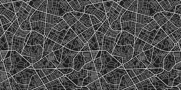 Town map seamless texture Town map seamless texture generic description stock illustrations