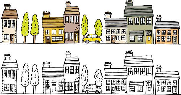 Stadt Szene – Vektorgrafik