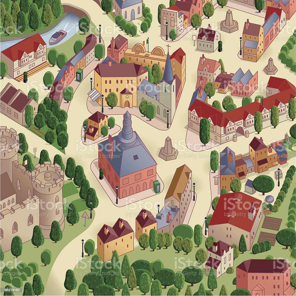 Town Square Map royalty-free town square map stock vector art & more images of architecture