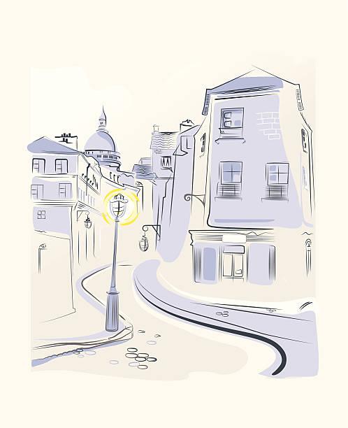 bildbanksillustrationer, clip art samt tecknat material och ikoner med town street - berlin street