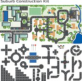 Town Suburb Road Maker Construction Kit