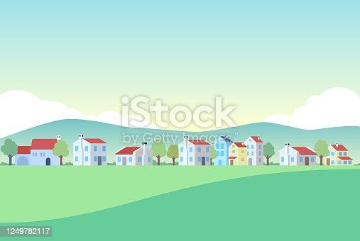 istock Town Vector 1249782117