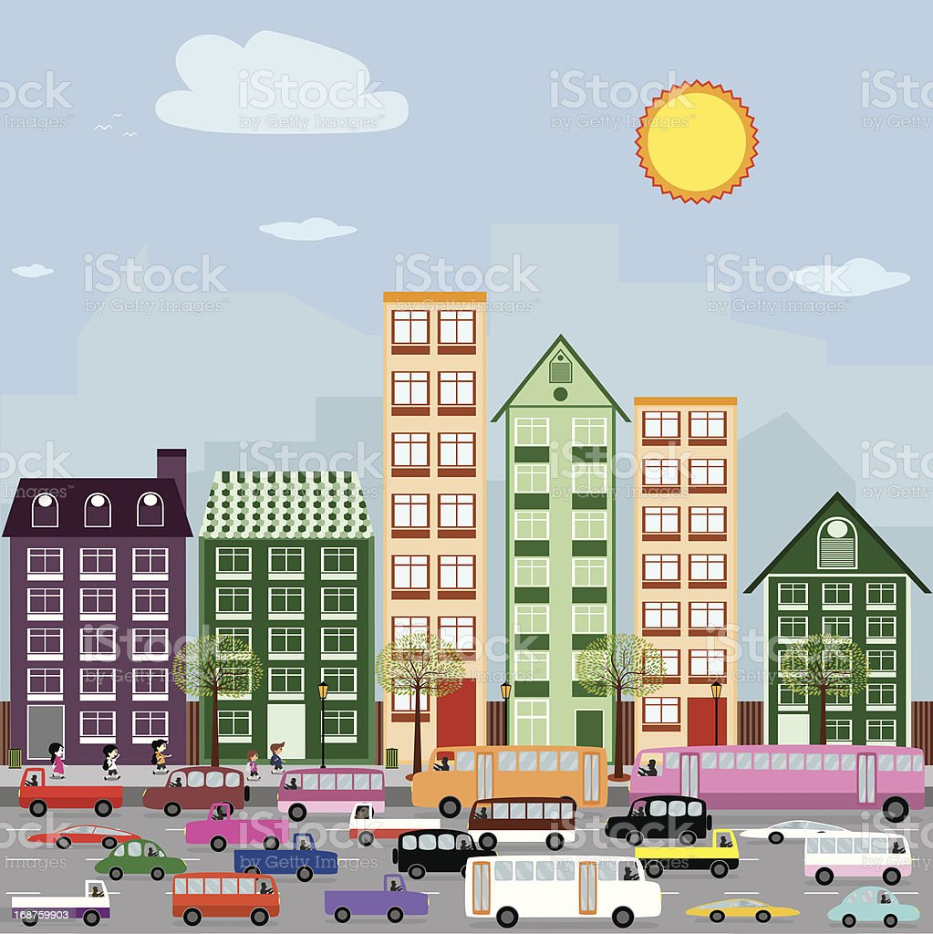 Townhouses in the city. royalty-free townhouses in the city stock vector art & more images of apartment