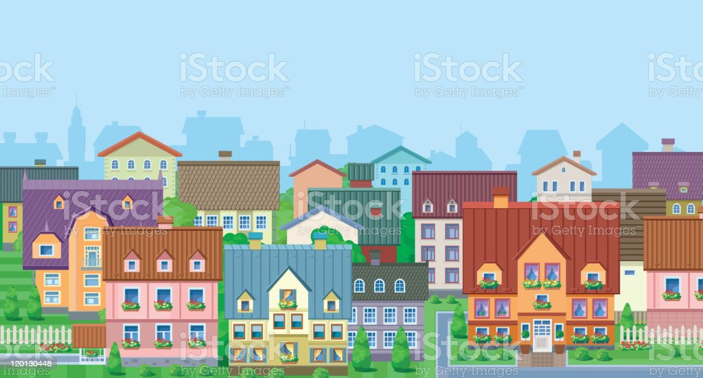 Townhouses royalty-free stock vector art