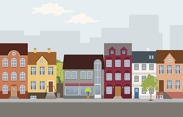 Maisons individuelles - Illustration vectorielle