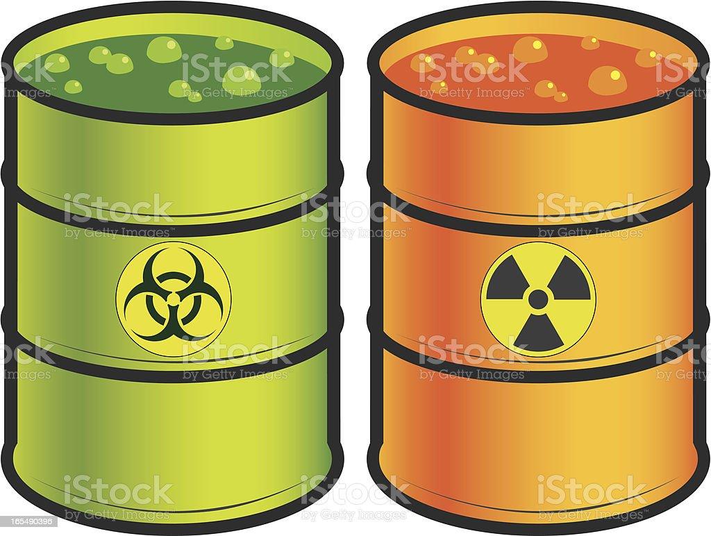Toxic Barrels vector art illustration