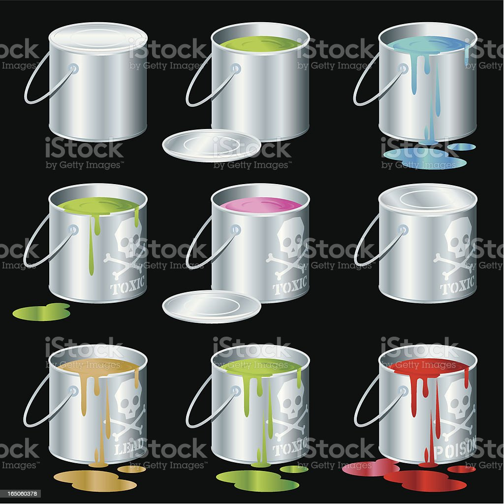 Toxic Cans royalty-free stock vector art