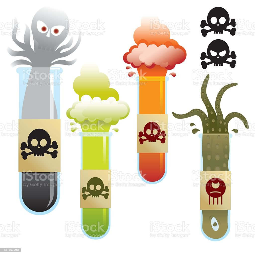 Toxic Chemicals royalty-free stock vector art