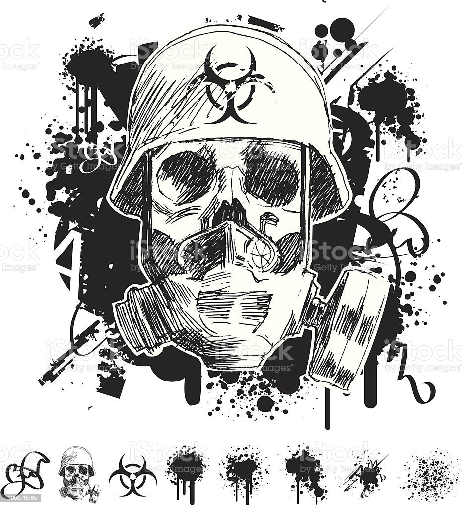 Toxic grunge graffiti skull stock vector art more images of toxic grunge graffiti skull royalty free toxic grunge graffiti skull stock vector art amp biocorpaavc Images