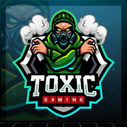 Toxic mascot.    design design