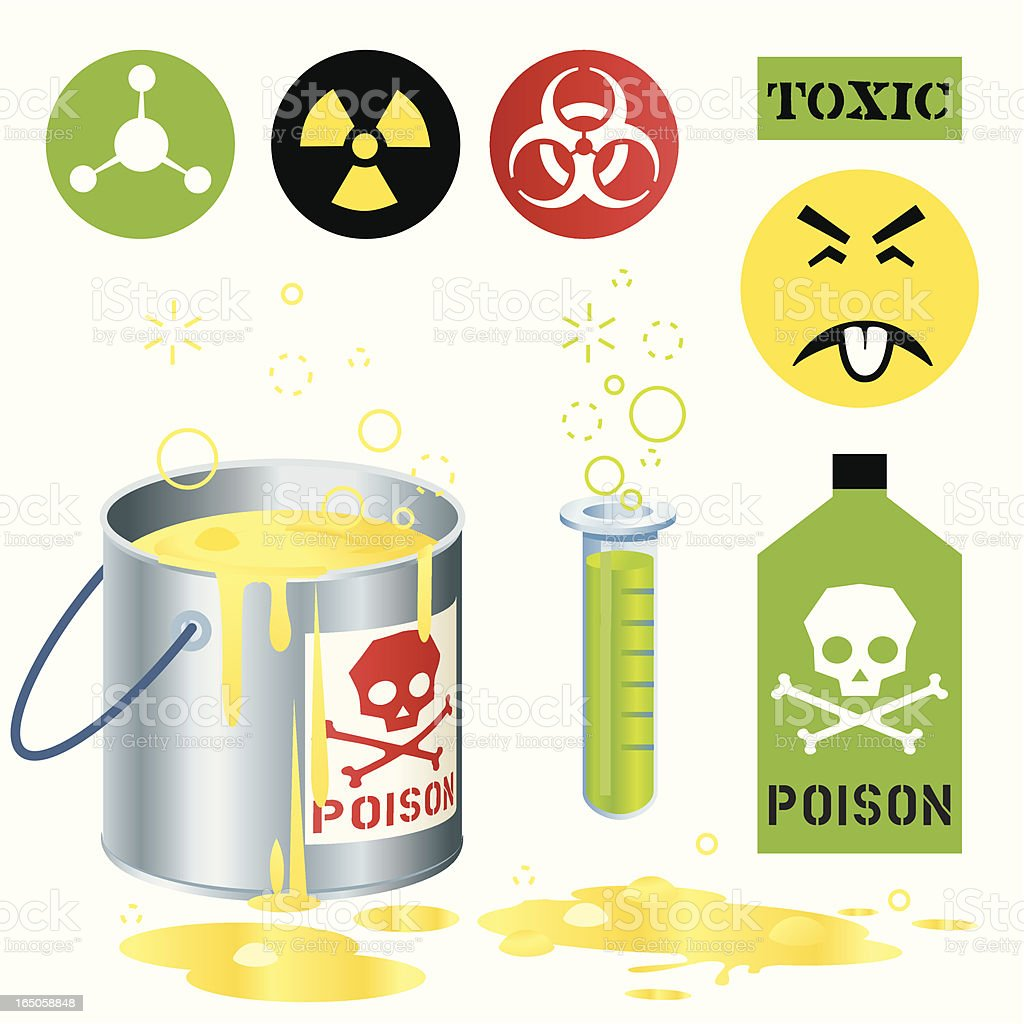 Toxic Poison vector art illustration