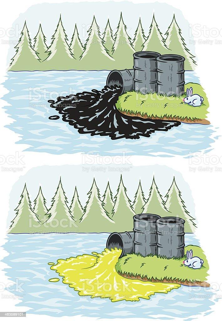 Toxic spill vector art illustration