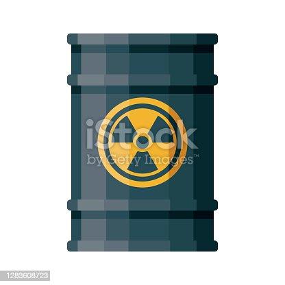 istock Toxic Waste Barrel Icon on Transparent Background 1283608723