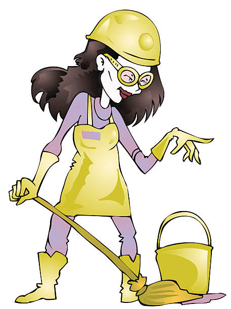 toxic waste - cartoon of a hazmat suit stock illustrations, clip art, cartoons, & icons