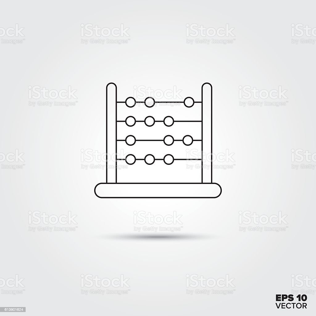 Toy Abacus Icon vector art illustration